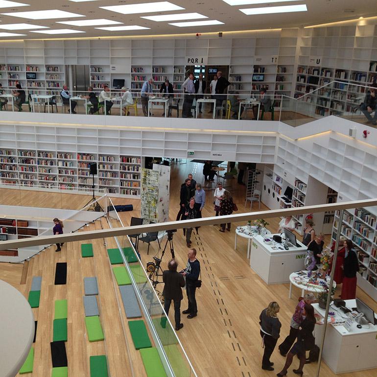 Bibliotek på Campus Lugnet, Falun