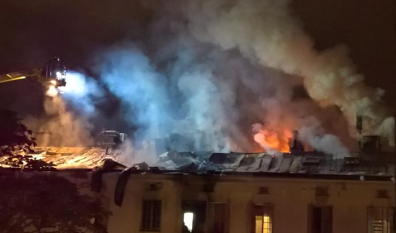 Brand på Skeppsholmen