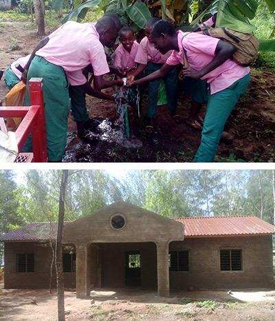Kenya vatten och lärarbyggnad