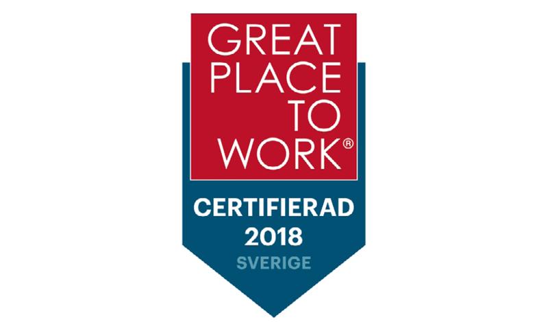 """Vi fortsätter att vara ett """"Great Place to Work"""""""
