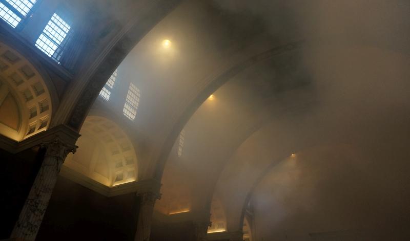 Teaterrök i tester på Nationalmuseum