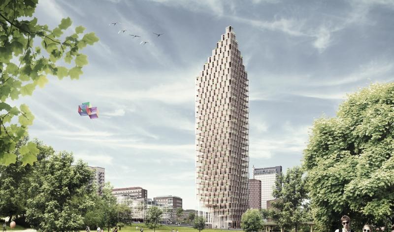 Reviderat tillämpningsstöd för att bygga höga hus i trä