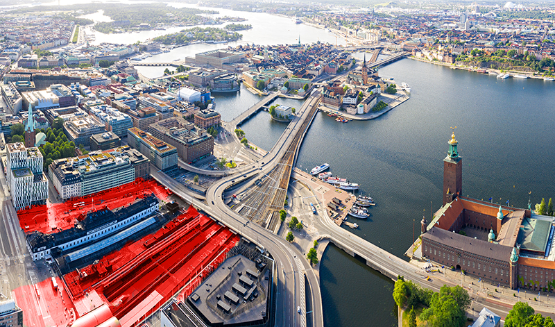 Överdäckning Stockholm Central