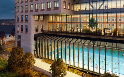Ny simhall och kontorsbyggnad i Solna